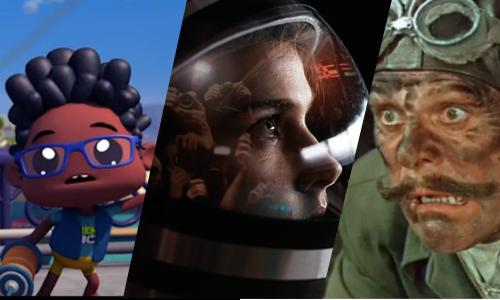 Samlebilde av et utvalg av filmene som vises